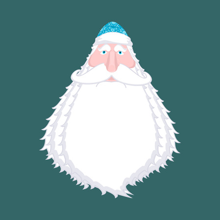 Ded Moroz- Russian Santa Claus. Santa of Russia -father Frost. Christmas old man in blue cap. New Year fairy tale character. Xmas template  Illustration