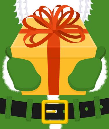 a sprig: Irish Santa (Daddy of Christmas). Santa Claus Ireland ( Daidi na Nollag ) Irish language. Christmas old man in green clothes. Sprig of mistletoe on cap. Traditional New Year grandfather