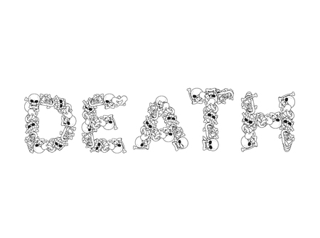 Death Typography Letters From Bones Anatomy Lettering Skull