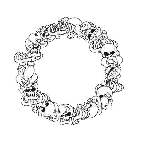 Rahmen Der Knochen. Anatomie Hintergrund. Skeleton Vorlage. Schädel ...