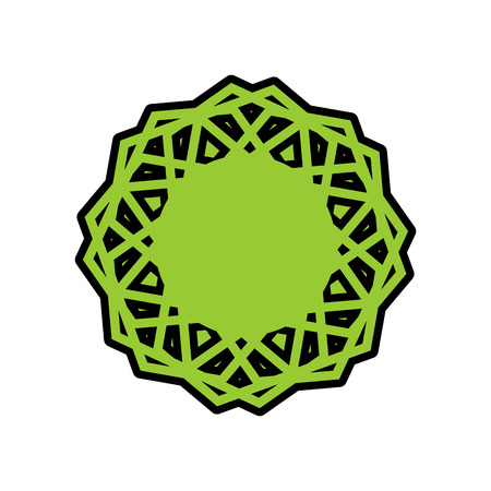 Halal template for Islamic pattern. Logo for properly cooked food and permitted to Muslims Illustration