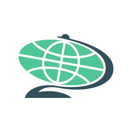 flat earth: Globe flat sign isolated. Planet earth symbol