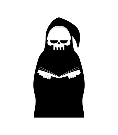immortal: Grim Reaper Isolated. Death in hood on white background