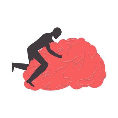 baise le cerveau. putain de cerveau. Homme sexe sur gyrus Vecteurs