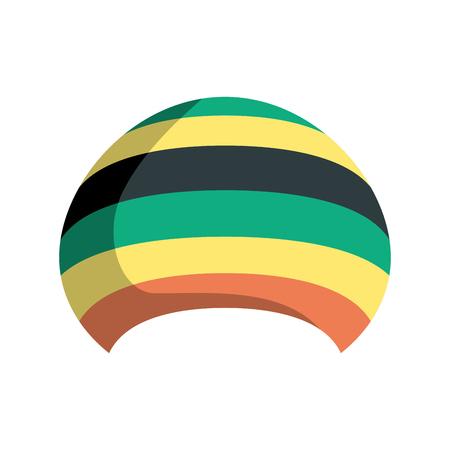 Rastafarian hat isolated. Jamaica cap on white background