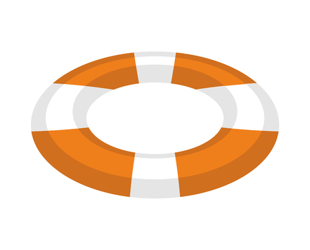 Lifebuoy isolated. Inflatable round to rescue people in water