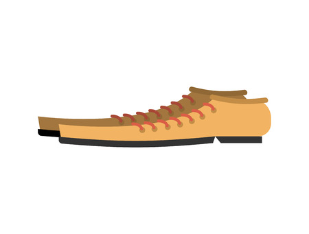 buffoon: Boots for clown isolated. Funny shoes on white background Illustration