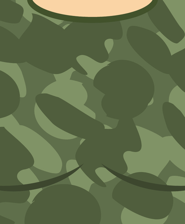 trooper: Military torso. Soldier Chest. Army clothes background