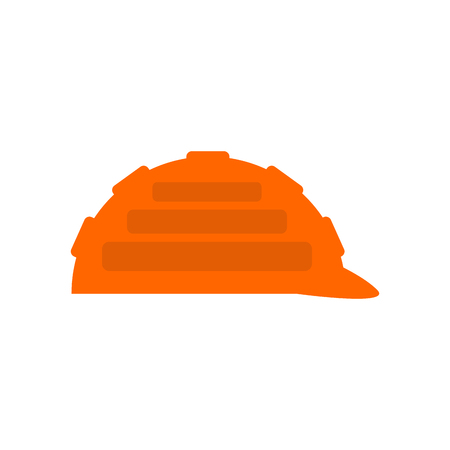 Construction orange helmet isolated. Industrial Accessory Builder