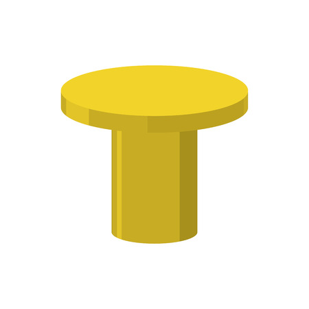 Gold pedestal isolated. Stand for rewarding on white background