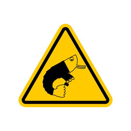 plancton: Atención oficina de plancton. Peligros de la señal de tráfico amarillo. Precaución empleado