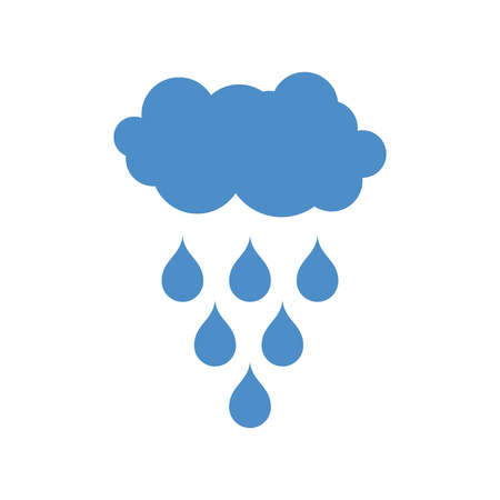 Cloud and rain icon. Weather pictogram isolated