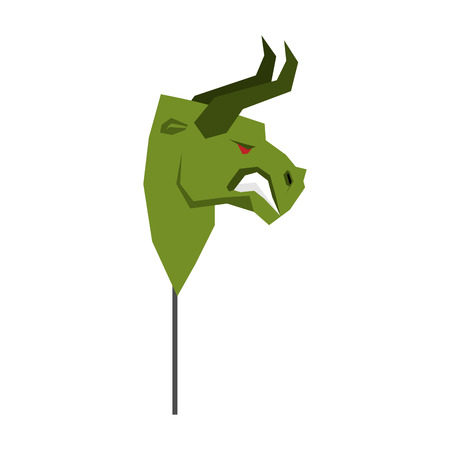 Green Bull Trader mask. guise Player on stock exchange