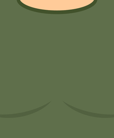 infantryman: Military torso. Soldier Chest. Army clothes background