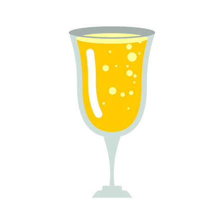 Glass of champagne isolated. wineglass of wine on white background