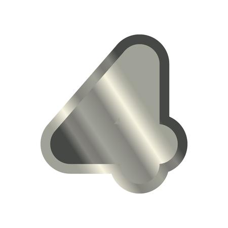 Number 4 steel. Metal font four. Silver alphabet sign. Iron ABC symbol Illustration
