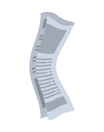 rolled newspaper: Roll of newspapers isolated. Rolled of publications on white background