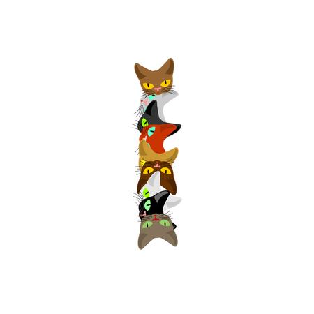 letter I Cat font. Pet alphabet symbol. home animal ABC sign