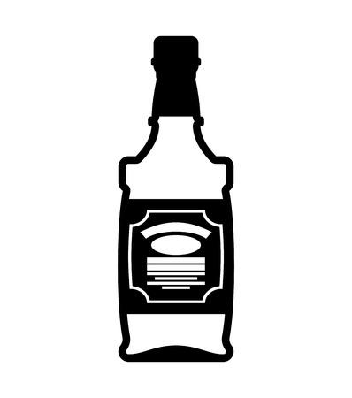 Fles whisky. Bourbon geïsoleerd. Tequila op een witte achtergrond Stockfoto - 72373147