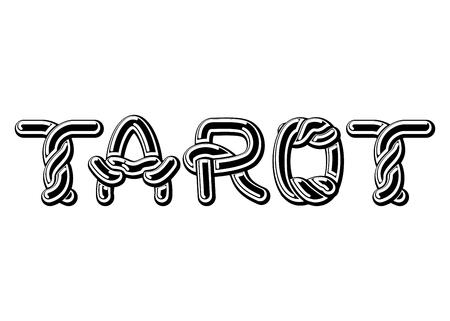 diviner: Tarot logo lettering Celtic font. norse medieval ornament ABC. Traditional ancient manuscripts alphabet