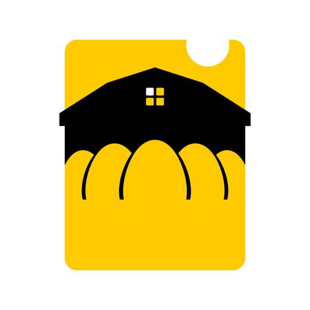 coop: Chicken farm emblem. Egg Farm Logo. Poultry factory sign. Eggs production symbol
