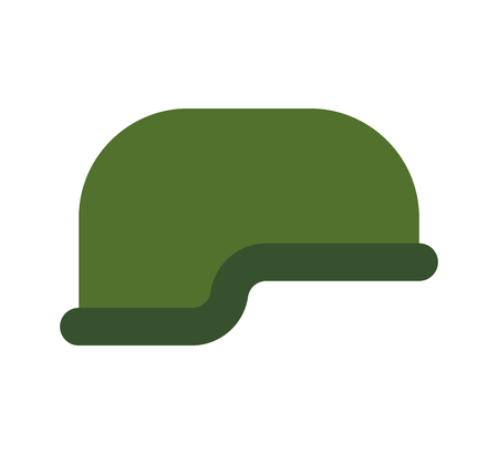 Military helmet isolated. Soldiers protective cap. Army hat