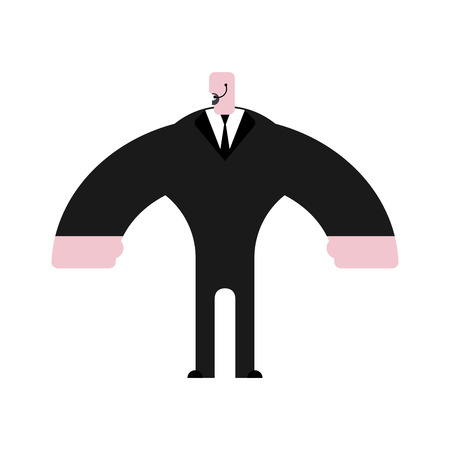 muscular control: Bodyguard in suit vector
