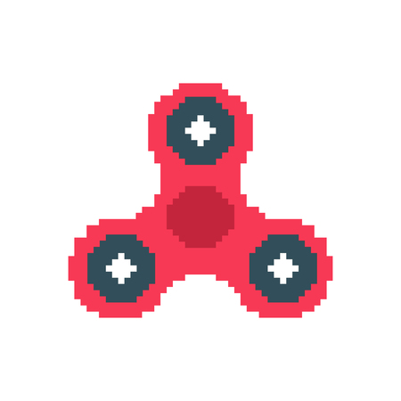 Spinner pixel art vector
