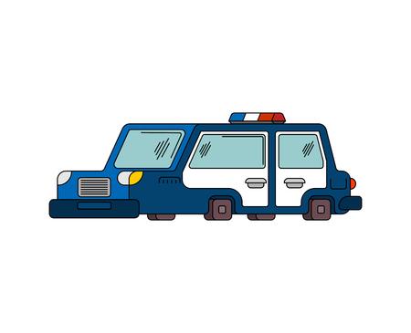 light duty: police car cartoon style. patrol car vector illustration
