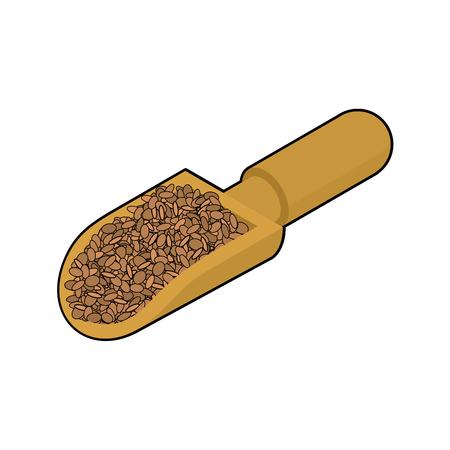 Lentils in wooden scoop