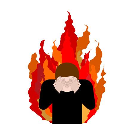 Sinner on fire