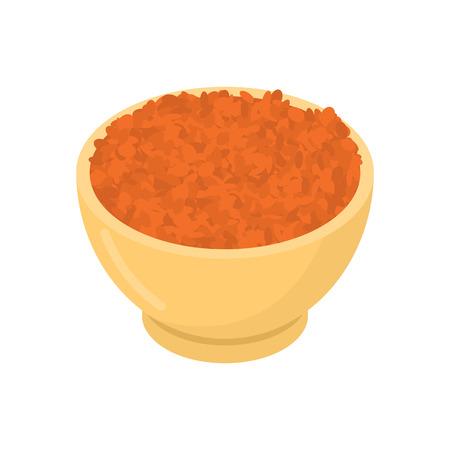 Red lentils in wooden bowl Ilustração