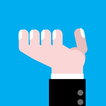 Hand asking isolated. Finger of businessman. Vector illustration Illustration