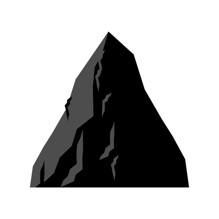 Rock Coal mining. Mountain of coal isolated. Vector illustration.