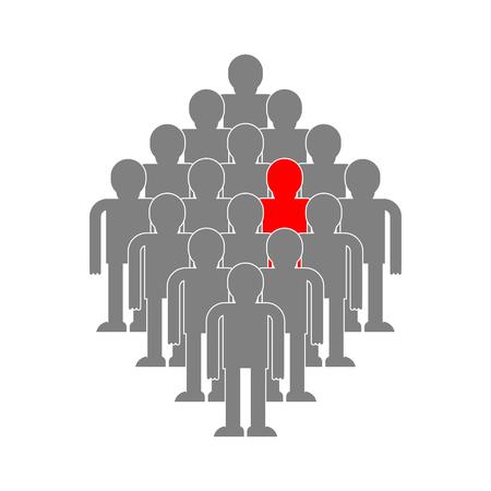 Sélection de l'illustration du concept candidat. Agence de recrutement. Recherche de personnel Banque d'images - 89966282