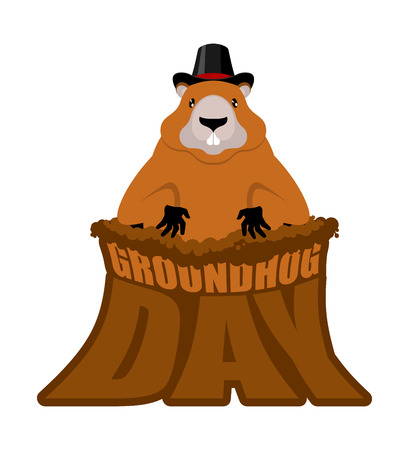 Groundhog Day design illustration. Illustration