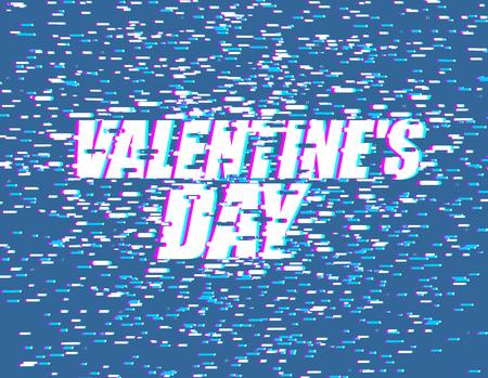 Valentines day glitch effect design