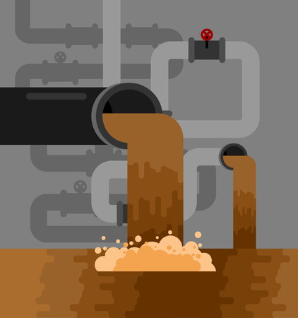 Underground sewerage System pipe. Water supply and Sanitation Sewage.