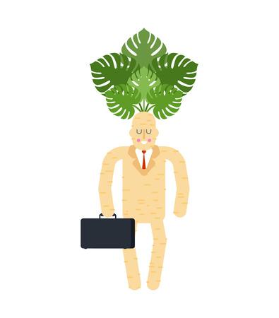 Boss mandrake root, tie and case magic businessman.
