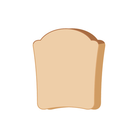 Piece of bread isolated on white background illustration.