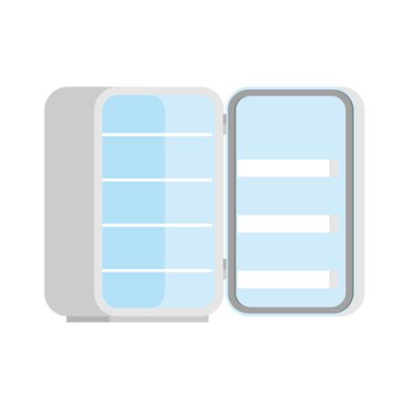 Open empty isolated refrigerator Vector illustration