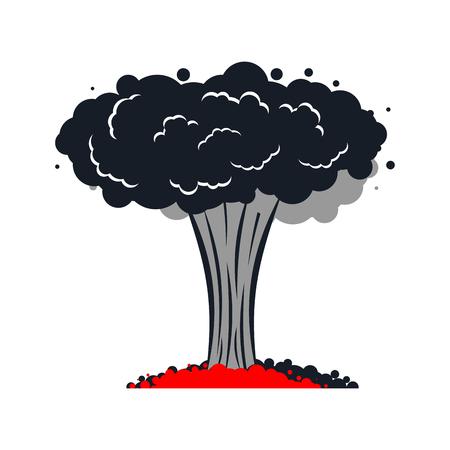 Explosion nucléaire . t. grande veine rouge succulente Banque d'images - 99267149