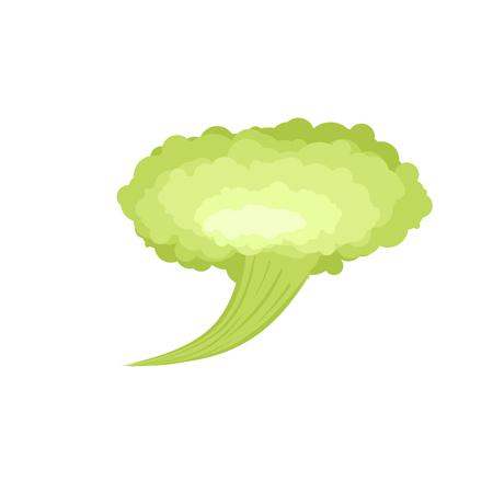 Fart. Green Cloud Stench. Bad smell. Vector illustration