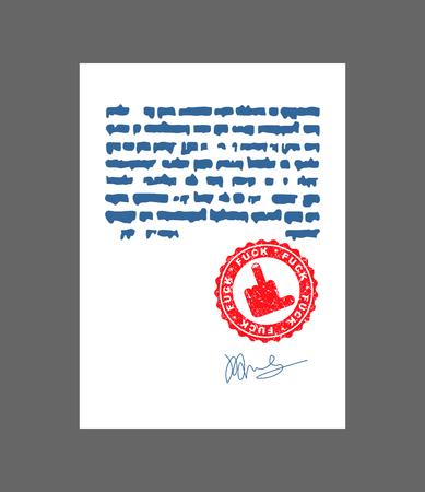 Fuck Stamp for documents. Bullshit Official Boss Answer template for office.