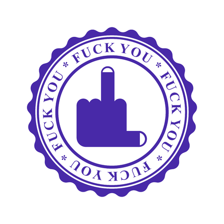 Fuck you Stamp for documents. Official Boss Answer template for office.   Illustration