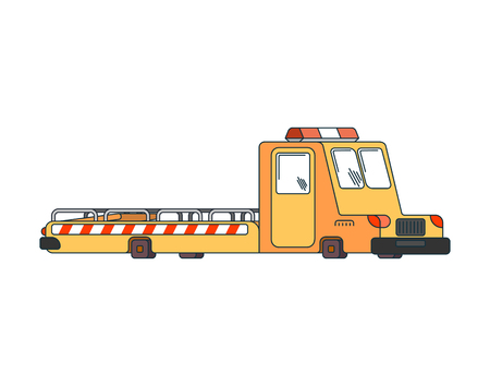 Tow truck isolated. Wrecker for Evacuates auto. Help on road. Vector illustration.