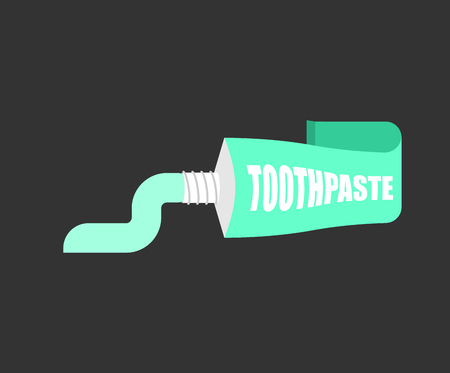Tube Toothpaste isolated. Brush your teeth. Tooth-paste vector illustration. Banque d'images - 100311626
