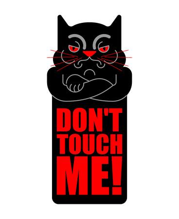 Dont touch me. Grumpy cat. Vector illustration Illustration