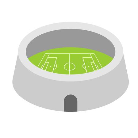 Football arena Stadium. Sports building symbol. Vector illustration Illustration