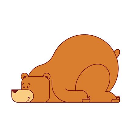 クマの睡眠は孤立した。野獣の睡眠。ベクトルの図